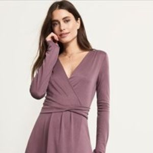 Purple faux wrap dress